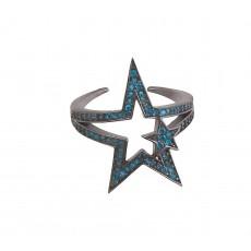 Δαχτυλίδι μπλε αστέρι