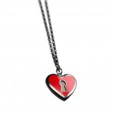 Κολιέ λουκέτο - καρδιά