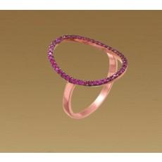 Δαχτυλίδι μωβ οβάλ