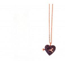 Κολιέ black heart