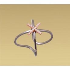 Δαχτυλίδι ροζ σταυρός